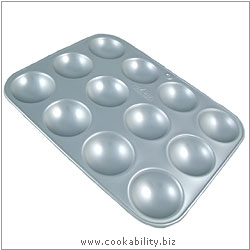 Silver Anodised 12 Hole Bun Tray. Derived work from original images, © Alan Silverwood Ltd, used with permission.