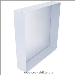 Silver Anodised Square Sandwich Pan. Original product image, © Cookability