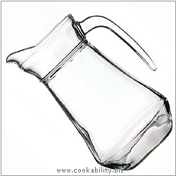 Cookability French Glass Jug. Original product image, © Cookability