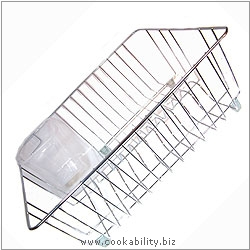 Cookability Deep Dish Drainer. Original product image, © Cookability