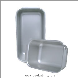 Silver Anodised Loaf Tins. Original product image, © Cookability