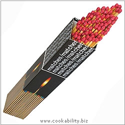 Cookability Long Matches. Original product image, © Cookability
