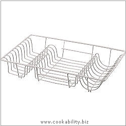Cookability Coated Dish Drainer. Original product image, © Cookability