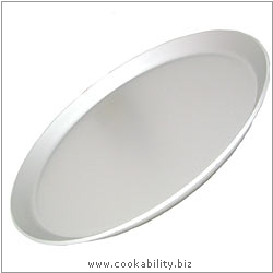 Silver Anodised Pizza Plate. Original product image, © Cookability