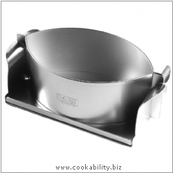 Silver Anodised Country Pie Mould. Original product image, © Cookability