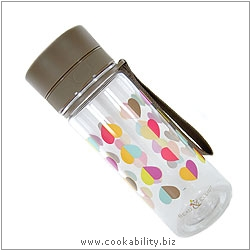 Cookability Confetti Water Bottle. Original product image, © Cookability