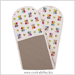 Cookability Blooming Lovely Oven Gloves. Original product image, © Cookability