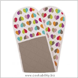 Cookability Confetti Oven Gloves. Original product image, © Cookability