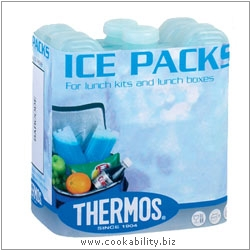 Thermos Ice Packs. Original product image, © Cookability