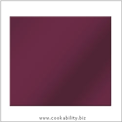 Cookability Glass Coasters - Berry. Original product image, © Cookability
