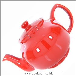 Brights Red Teapot. Original product image, © Cookability