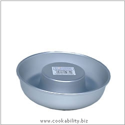 Silver Anodised Savarin Mould. Original product image, © Cookability