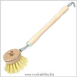 Cookability Wooden Dish Brush. Original product image, © Cookability