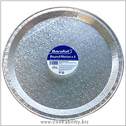 Cookability Bacofoil Round Platter. Original product image, © Cookability