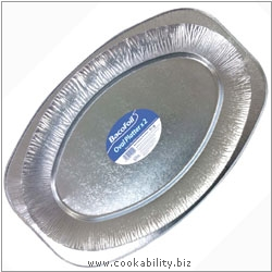 Cookability Bacofoil Oval Platter. Original product image, © Cookability