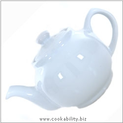Brights Teapot  White. Original product image, © Cookability