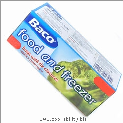 Baco Food and Freezer Bags. Original product image, © Cookability