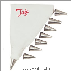 Tala Piping Bag and 8 nozzles. Original product image, © Cookability
