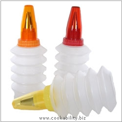 Tala Squeeze decorating bottles. Original product image, © Cookability