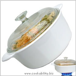 Just White Round Casserole. Original product image, © Cookability