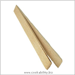 Cookability Wooden Toast Tongs. Original product image, © Cookability