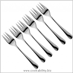 Judge Pastry Forks. Derived work from original images, © Horwood Homewares Ltd, used with permission.