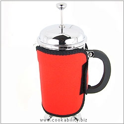 Kilo Red Cafetiere Cosy. Original product image, © Cookability