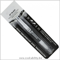 Culpitt Food Pen - Edible Ink - Jet Black. Original product image, © Cookability