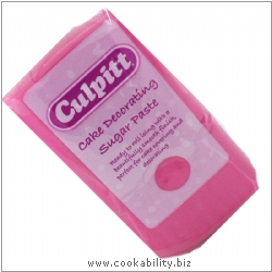 Culpitt Roll Out Icing - Sugar Paste Hot Pink. Original product image, © Cookability