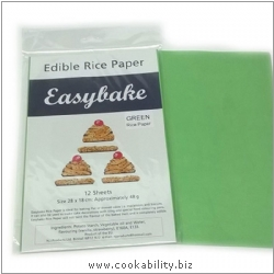 Easybake Edible Rice Paper Green. Original product image, © Cookability