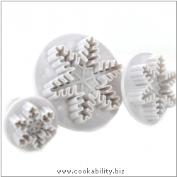 Culpitt Snowflake Plunger Cutters. Original product image, © Cookability
