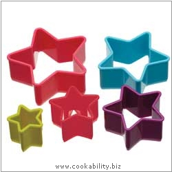 Accessories Star Cookie Cutters Plastic. Derived work from original images, © Thomas Plant 2006 and prior, used with permission.