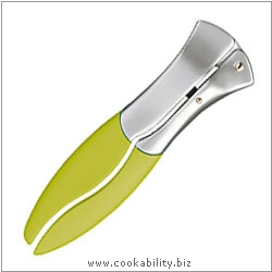 Cast Designer Tools Garlic Press Green. Derived work from original images, © Thomas Plant 2008 onwards, used with permission.
