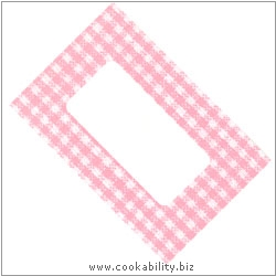 Cookability Jam Pot Labels Self Adhesive Pink Gingham. Original product image, © Cookability