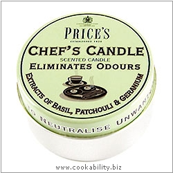 Fresh Air Chef's Candle Tin. Derived work from original images, © Price's Patent Candles Limited, used with permission.