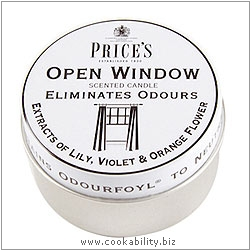Fresh Air Open Window Candle Tin. Derived work from original images, © Price's Patent Candles Limited, used with permission.