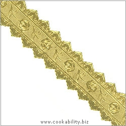 Cookability Gold Foil Cake Banding. Original product image, © Cookability