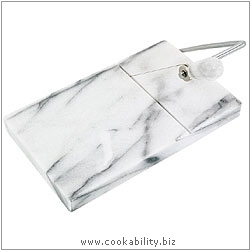 Horwood Marble Cheese Board and Cutter. Derived work from original images, © Horwood Homewares Ltd, used with permission.