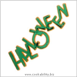 Cookability Halloween Sign. Original product image, © Cookability