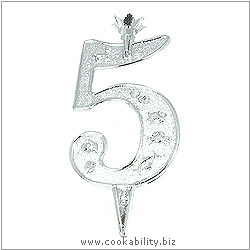 Cookability Number 5 Candle Holder. Original product image, © Cookability