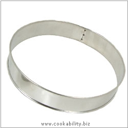 Cookability Plain Flan Hoop. Original product image, © Cookability