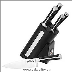 Sabatier Five Piece Knife Block Set. Original product image, © Cookability
