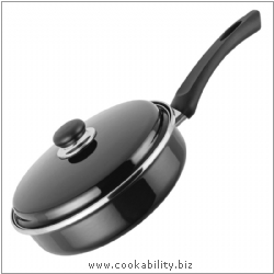 Judge Black Induction Saute Pan. Derived work from original images, © Horwood Homewares Ltd, used with permission.