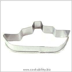 Cookability Ship Cookie Cutter. Original product image, © Cookability