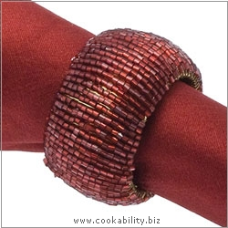 Walton and  Co. Napkin ring Set of Four. Original product image, © Cookability