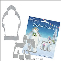 Cookability Snowman Snowdog Cookie Cutters. Original product image, © Cookability