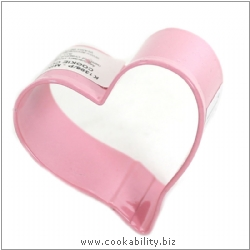 Cookability Mini Heart Cutter Pink. Original product image, © Cookability
