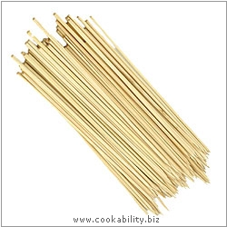 Cookability Bamboo Skewers. Derived work from original images, © Dexam International Ltd, used with permission.