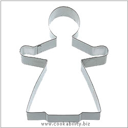 Kitchencraft Gingerbread Lady Cookie Cutter. Derived work from original images, © Thomas Plant 2006 and prior, used with permission.