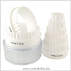 Kitchencraft Pastry and Biscuit Cutter Set. Original product image, © Cookability
